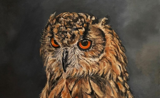 A Parliament in Oils: Owls, Humans and Others by Nancy Coumoundouros On View Through July 17th